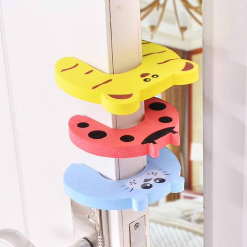 5pcs/lot Child Safety Gates Protection Baby Animal Jammer Security Card Door Stopper Baby Care Newborn Lock Finger Protection