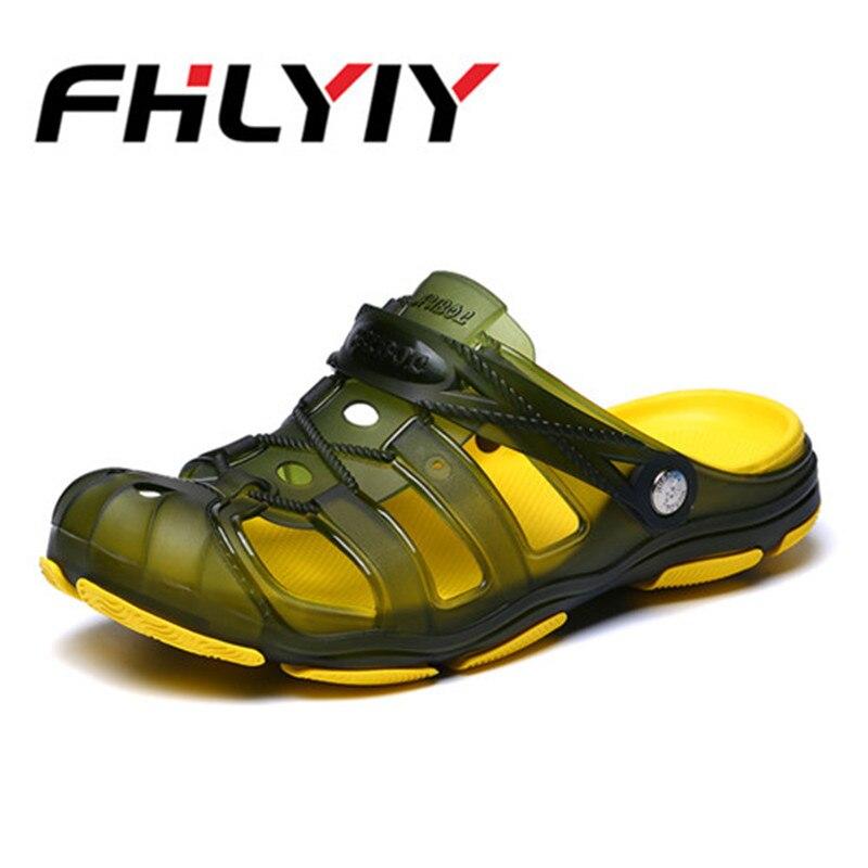 Men Sandals 2018 New Summer Style Men Beach Shoes Hollow Sandals Breathable Non slip Sandals Plus Size Caual Shoes FHLYIY