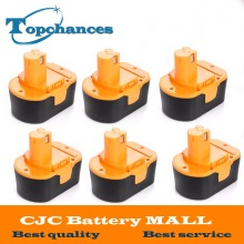 6PCS High Quality 14.4V 2000mAh NI-CD Power Tool Battery For RYOBI 130281002 RY62 RY6200 RY6201 RY6202 STPP-1441 14.4 Volt