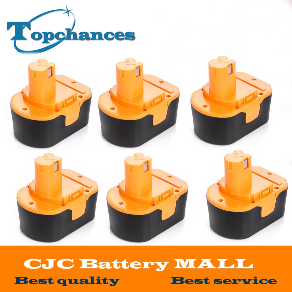 6PCS High Quality <font><b>14.4V</b></font> 2000mAh NI-CD Power Tool <font><b>Battery</b></font> For RYOBI 130281002 RY62 RY6200 RY6201 RY6202 STPP-1441 14.4 Volt image