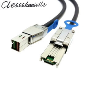 (100 шт./лот) внешний Mini SAS 4x SFF-8088 к Mini SAS высокой плотности HD SFF-8644 рейд данных сервера кабеля 50 см 1 м