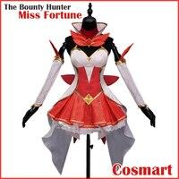 [Tháng hai. STOCK] Game LOL Hình Miss Fortune The Bounty Hunter Đồng Phục Váy Halloween Cosplay trang phục New 2018 miễn phí vận chuyển