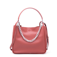 New Arrival Hot Sale Women Small Bucket Genuine Leather Fashion Designer Brand Shoulder Bag Chain Crossbody Bag for Lady