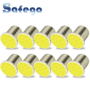 Safego 10pcs 1156 BA15S P21W LED Car Interior Light Bulbs 12 COB Chips For Auto Backup Tail Turn Signal Lamp DC 12V White 6000k