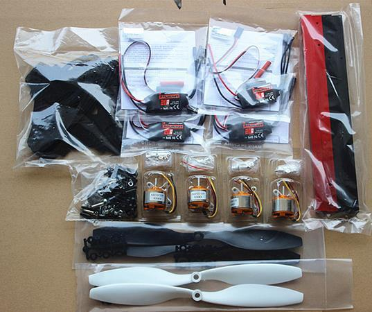 X600 четырех-оси / четыре оси самолета / 2212 двигателя / электрическим управлением, Самолет для diy kit