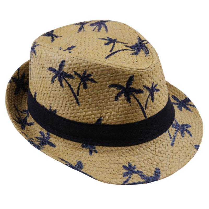 LNPBD 2017 Hot Sale Summer Straw Sun Hat Kids  Beach Sun  Hat Trilby Panama Hat Handwork For Boy Girl Children 4 Colour