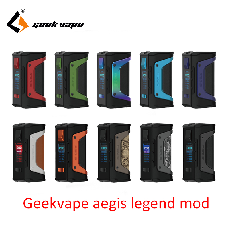 GeekVape Aegis mod aegis Legend 200W TC Box MOD Powered by Dual 18650 batteries e cigs No Battery for zeus rta blitzen