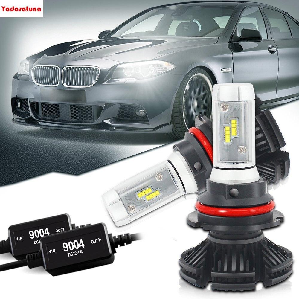 X3 Dual Hi/Lo 9004 HB1 Led Headlight Bulbs CANBUS ERROR FREE Conversion Kit 12000LM 3000K 6500K 8000K Powered BY Flip ZES Chips