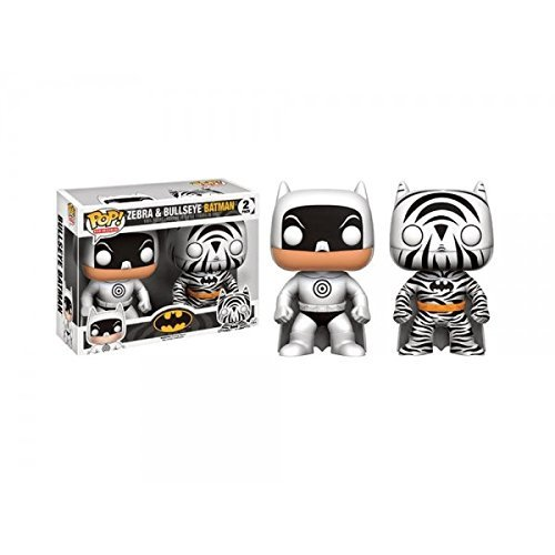 Hot Topic Exclusive Funko pop Zebra and Bullseye Batman 2 pack Vinyl Figures Collectible Model Toy with Original Box cqm1 pa206 power supply unit a2 plc module cqm1pa206