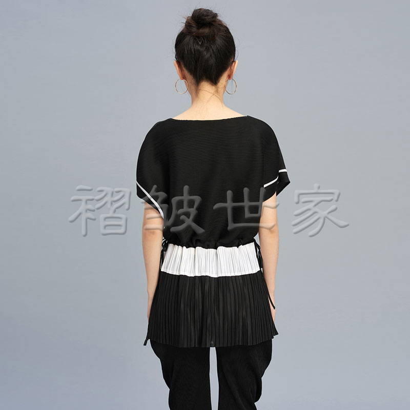Pliegue Gratuito Camiseta camel Mujeres Las Miyake gris Grande Color Hechizo Tamaño Negro Nuevo Envío De Plisado Flojo Bq8ZOwAZ