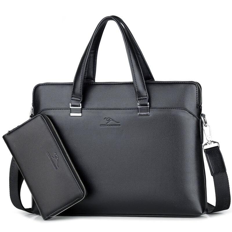 2019 Neue Luxus Leder Business Herren Aktentasche Männlichen Mode Schulter Tasche Männer Messenger Tasche Junge Casual Tote Computer Tasche Lager Chinesische Aromen Besitzen