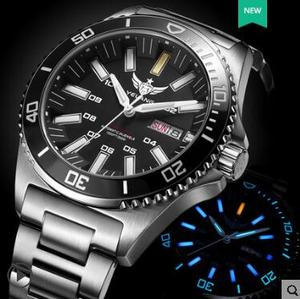 Image 3 - טריטיום שעון T100 Yelang גברים אוטומטי עמיד למים 300m יפן תנועה עליונה 24 תכשיטים לסובב חיוג תאריך יום לשחות צולל שעון
