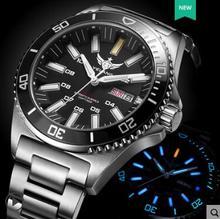 Yelang Reloj Automático para hombre, cronógrafo de tritio T100, Japan TOP Motion 24Jewels Swim Diver Watch WR300M