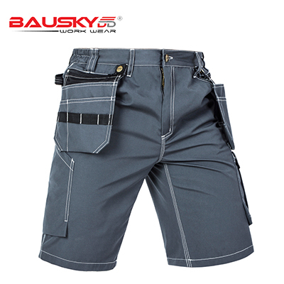 New High quality men's summer work short workwear multi pockets short work pant work short trousers free shipping 5