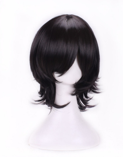 Realistic Fei-show Syntheitc Heat Resistant Fiber Short Wavy Black Hair Wig Costume Cartoon Role Cosplay Salon Party Women Student Bob Wig Hair Extensions & Wigs