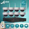 2 ТБ HDD 8-КАНАЛЬНЫЙ Беспроводной NVR Комплект 720 P 1.0MP HD Открытый ИК антивандальные Купольные Ip-камеры, WI-FI Системы ВИДЕОНАБЛЮДЕНИЯ Камеры Наблюдения