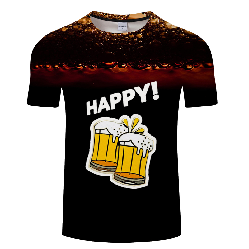 Beer Print T Shirt It's Time Letter Women Men Funny Novelty T-shirt Short Sleeve Tops Unisex Outfit Clothing Dropship Asian size