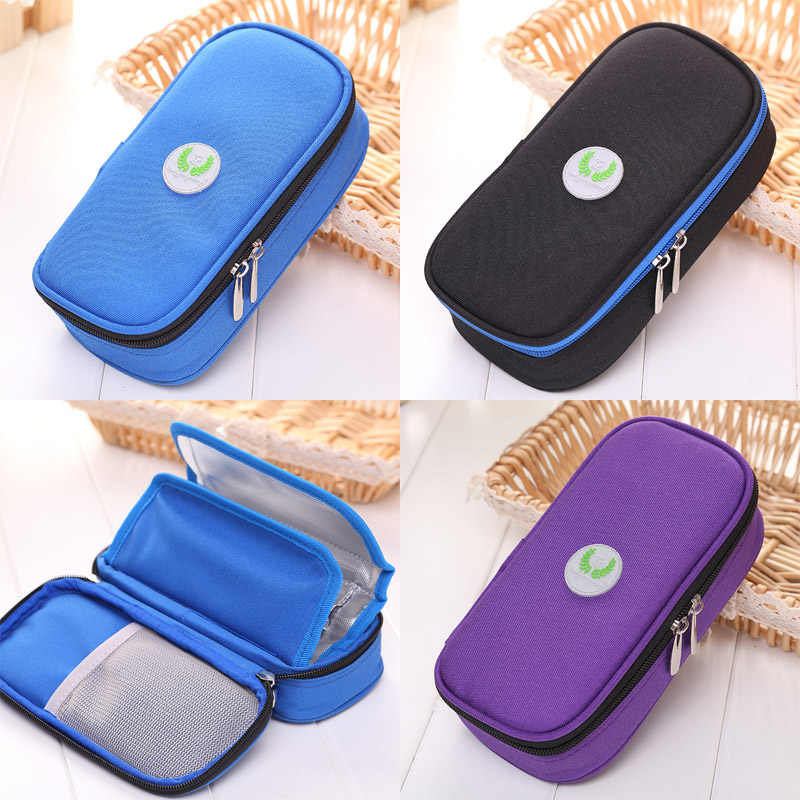 1pc Portable Diabetic Insulin Ice Pack Cooler Bags Protector Bag Injector Cooler Bag Home Storage Holder Space Saver Organizer