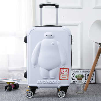 BayMax children luggage 20/24 inch cartoon trolley case 3D kid Boarding box Travel luggage rolling suitcase - DISCOUNT ITEM  8 OFF Luggage & Bags