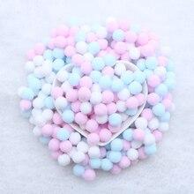 400 шт./пакет нескольких цветов 10 мм помпонами шары набор «сделай сам» для вечеринки для дома и сада Свадебные украшения Одежда шить детские игрушки аксессуары