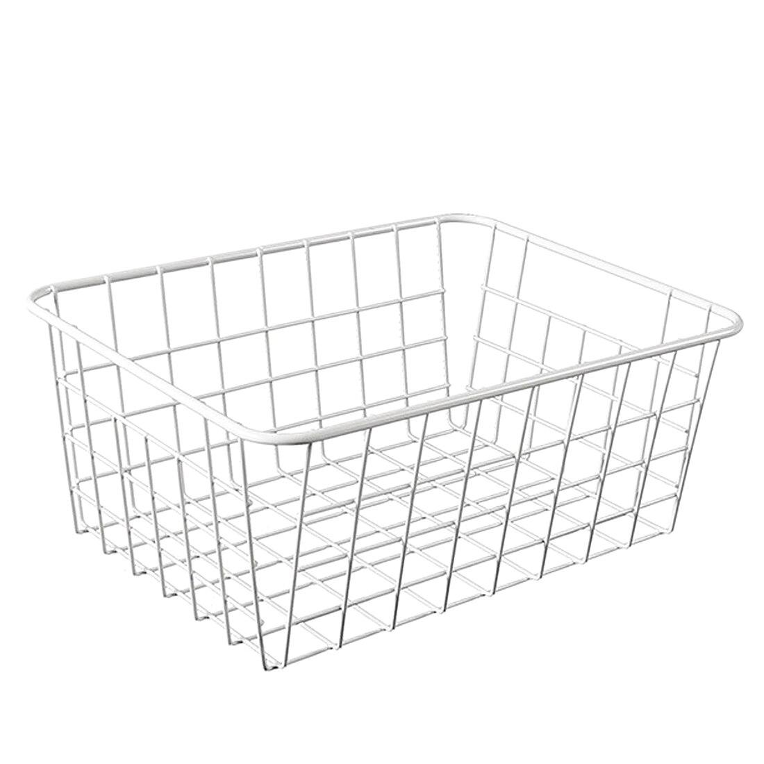 HIPSTEEN Household Iron Art Storage Basket Kitchen Bedroom Sundries Snacks Organizer Basket Black White in Storage Baskets from Home Garden