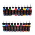 30 ml/botella de tinta del tatuaje conjunto Microblading maquillaje permanente pigmento de arte 20 UNIDS pintura para eyeliner de la ceja del tatuaje cosmético cuerpo labio