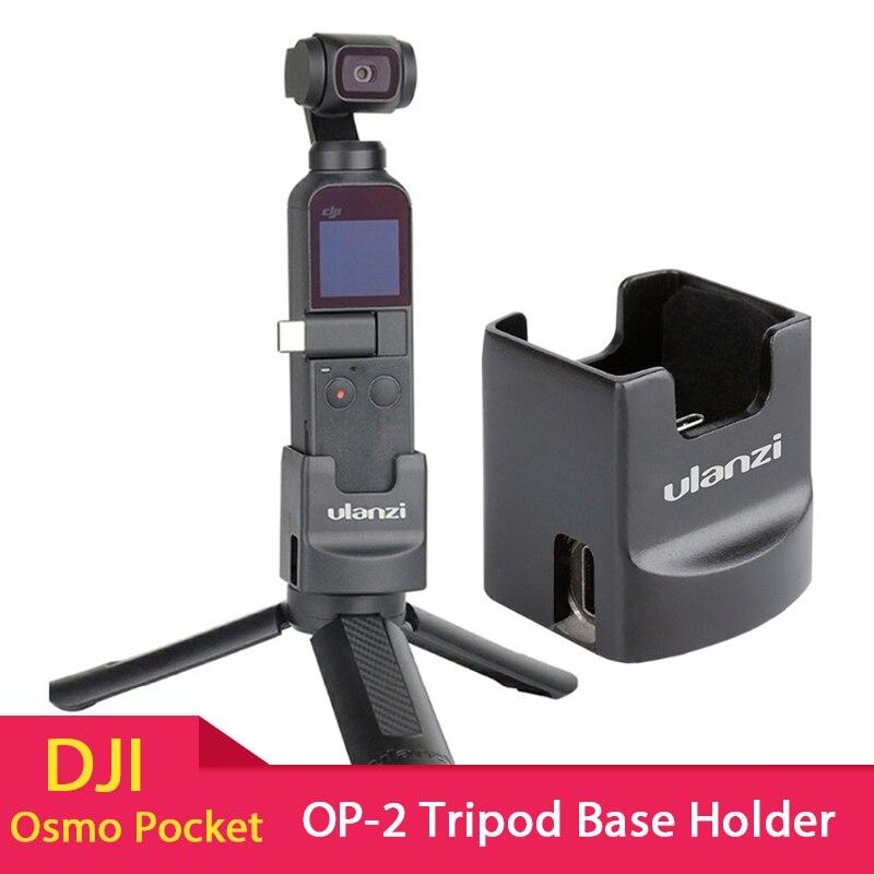 ULANZI OP-2 Tripé Base de Carregamento Suporte Suporte 1/4 ''Parafuso Fixo com Porta USB Tipo-C para DJI Osmo câmera de bolso
