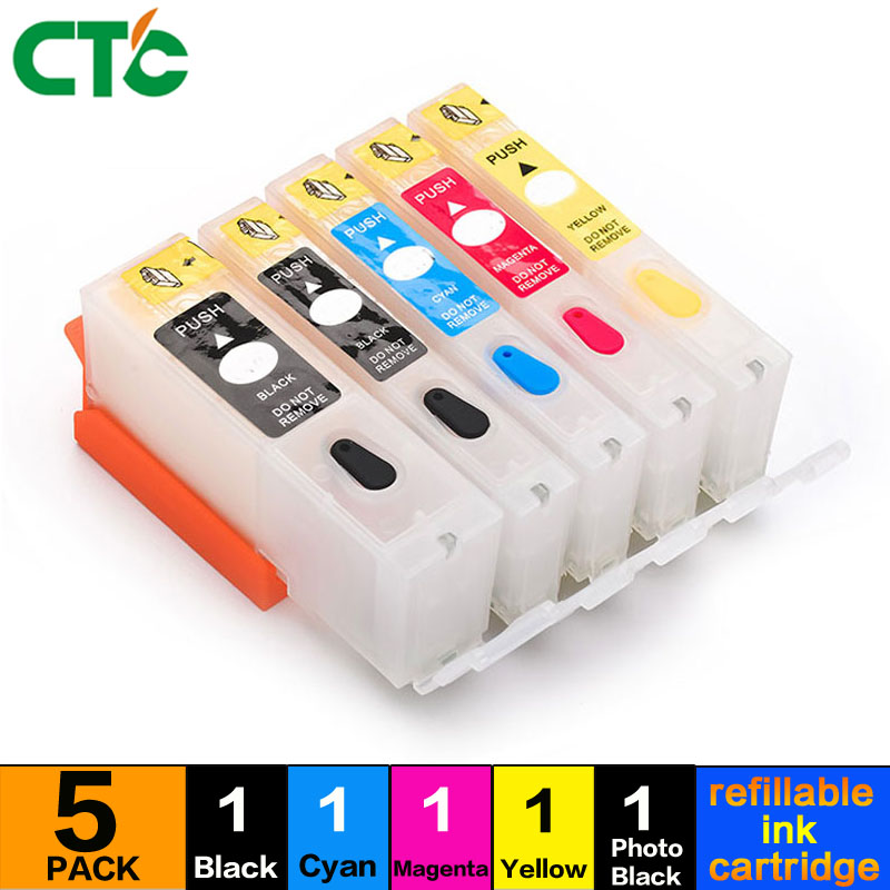 PGI-550 CLI-551 PGI550 Refillable Ink Cartridges Compitalbe for Canon IP7250 IX6850 MG5450 MG5650 MX925 IX6850 with ARC chips