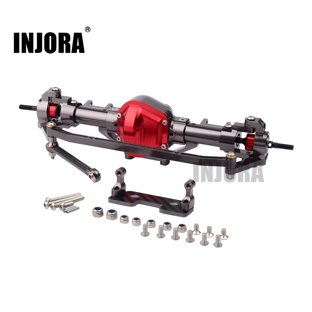 INJORA RC Car CNC Metal Front / Rear Axle for 1:10 RC Rock Crawler Car Axial SCX10
