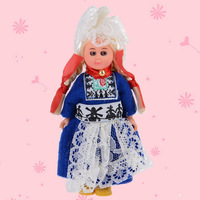 Baby Ethnic Dolls 4inch Kid Toys Netherlands Woman Clothes Mini Ethnic Doll Girls Boys Child International