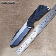 Free shipping Steel Survival Knives Fixed Blade Tactical Straight Knife Full Tang Blade Marked Tank thickness 0.5 CM