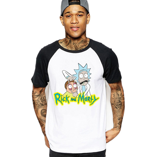 02c418647f Rick And Morty icon Men's T shirt Funny Design Digital Print 100% Cotton  Top Tees Customized rick y morty tshirt hipster clothes