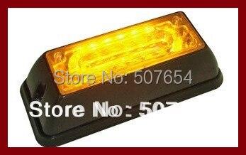 Free shipping! Higher star 6W Led car Grill warning light,emergency lights, lights,18flash,waterproof
