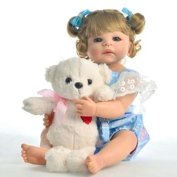 55cm Collectible doll Full Body Vinyl Silicone Reborn Toddler Princess lifelike Realistic lol doll bathe brinquedos birthday toy