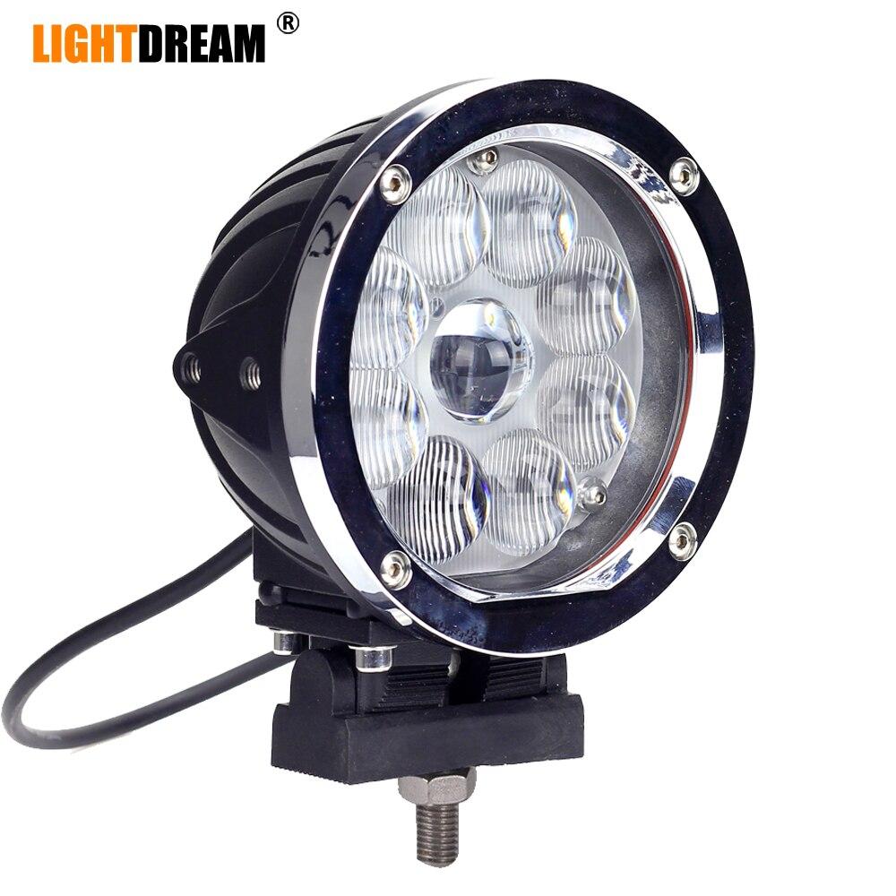 Rond 45W lampes de travail led 9leds 4200Lumens Haute Puissance Super Lumineux 5.5