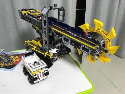 2016 New LEPINS Technic Bucket Wheel Excavator Model Building Kit Blocks Brick Compatible Lepins Toy Gift bwl 01 tyrannosaurus dinosaur skeleton model excavation archaeology toy kit white