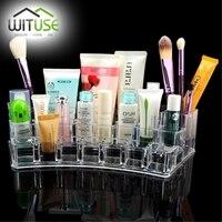 VENTA Caliente Lipstick Soporte de Exhibición del organizador del maquillaje de Acrílico Organizador Cosmético de Maquillaje Caja de Almacenamiento de Artículos Varios organizador