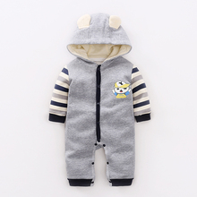 YiErYing Newborn Baby Romper Clothes Boys Girls Jumpsuit Hooded Cute Costumes Cartoon Cotton Long Sleeve