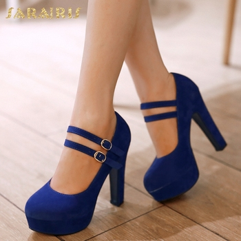 SARAIRIS Women's Large Sizes 31-47 Party Wedding women's Shoes Woman 2018 Dropship New Square High Heels Platform Pumps