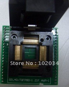 100% nouveau AT89C51SND1 89C51SND1 QFP80 TQFP80 IC prise de Test/adaptateur programmeur/prise de rodage pour AT89C51SND1