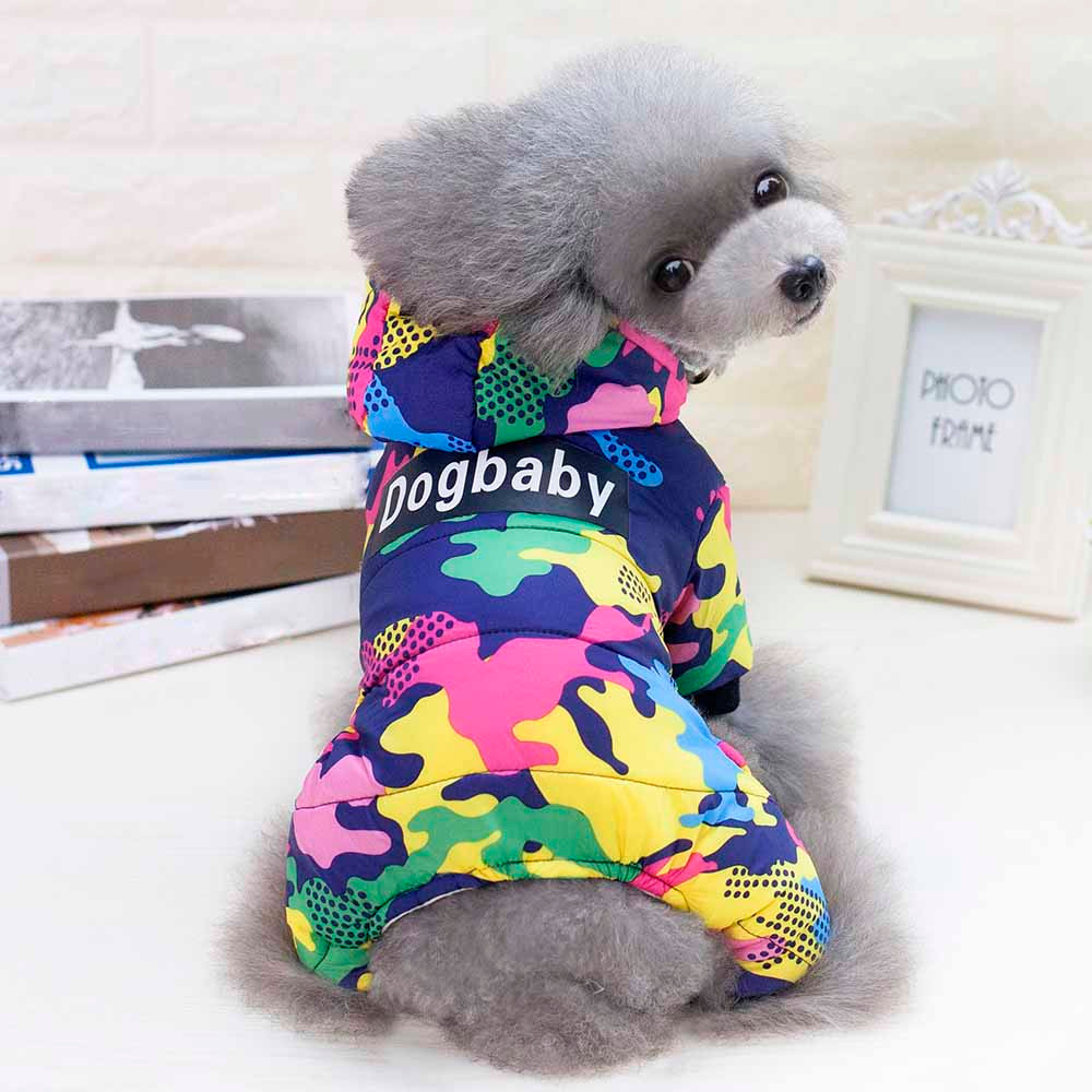 Fashion Small Dogs Costume Clothes For Little Dogs Overalls Camouflage Dog Coat Pet Jacket Hooded Pets Clothes Costume