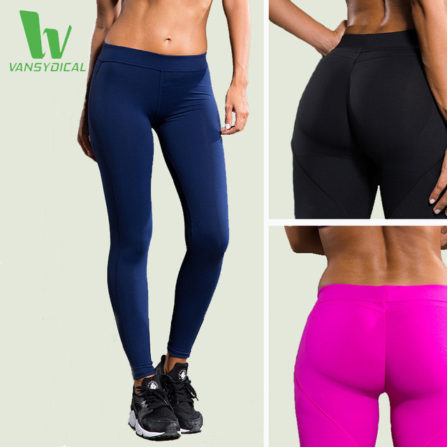 VANSYDICAL Yoga Pants Women Fitness Sexy Hips Push Up Leggings Breathable Running Tights Sportswear Leggins Sport Women FBF031-2