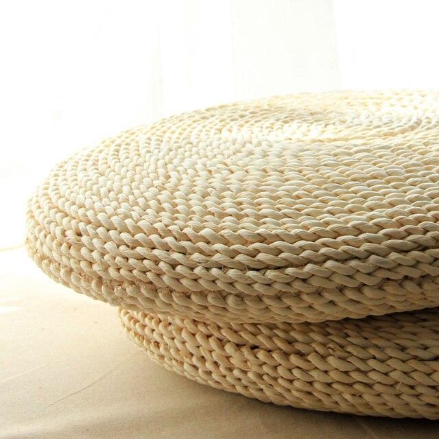 Gr Rattan Weaving Play Mat Japanese Tatami Handmade Seat Cushion Corn Straw Futon Meditation Yoga