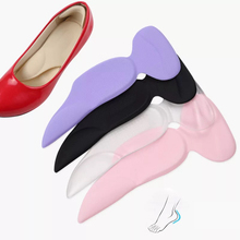 New Silicone T-Shape High Heel Grips Liner Arch Support Orthotic Shoes Insert Insoles Foot Heel Protector Cushion Pads for Women 1 pair silicone gel heel liner grips arch support for women high heels shoes foot pads self adhesive cushion insoles pad inserts