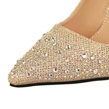Sexy Women Silver Rhinestone Wedding Shoes Platform Pumps Red Bottom High Heels Crystal Shoes Gold Black Pink
