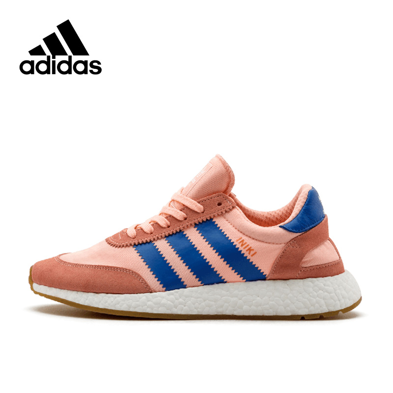 цена на New Arrival Authentic Originals Adidas Iniki Runner Boost Women's Running shoes Sports Sneakers Comfortable Outdoor Walking