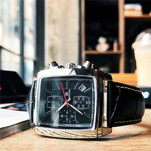 MEGIR Men's Fashion Rectangle Watch Unique Engraved Dial Military Sport Watches Relogio Masculino Esportivo hot couple lover s watches unique hollowed out triangular dial fashion watch women men fashion dress watch relogio masculino