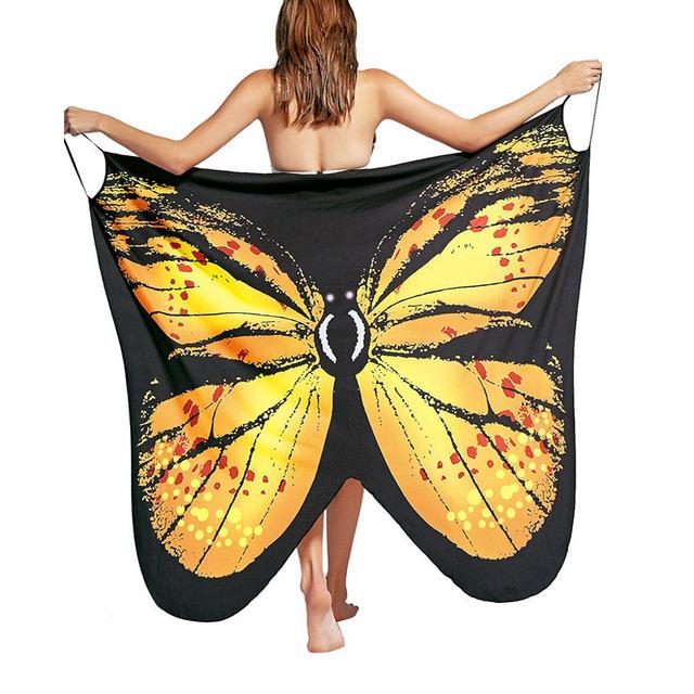 Empire Butterfly Print Dress Beach Wear