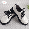 Children small black shoes Boys show shoes Student shoes Spring and autumn models of white children's shoes Korean version