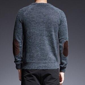 Image 5 - 2020 חדש אופנה מותג סוודר עבור Mens O צוואר Slim Fit מגשרי סריגה מוצק צבע סתיו קוריאני סגנון מקרית Mens בגדים